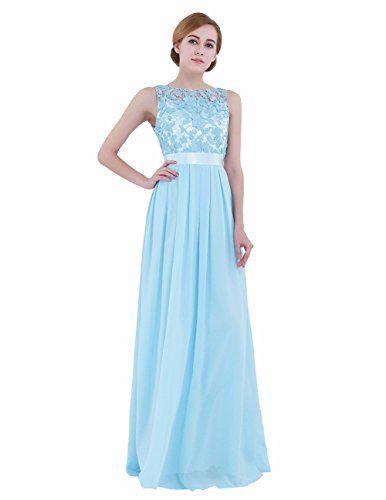 27782d4a6407 iEFiEL Summer Wedding Floral Lace Crochet Bridesmaid Chiffon Dress ...