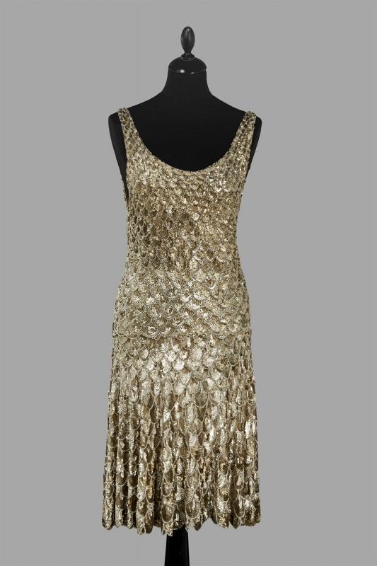 Evening dress, circa 1925-1928