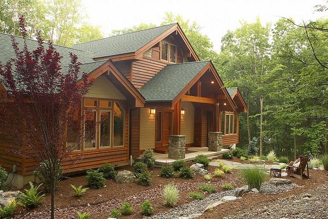 Entry of Lindal Cedar Home in New Jersey by Lindal Cedar Homes, via Flickr
