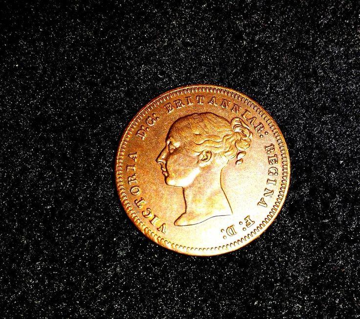 Gran Bretaña 1843 UK CEILÁN VICTORIA MEDIO CENTAVO,COBRE ,  FAKE | eBay