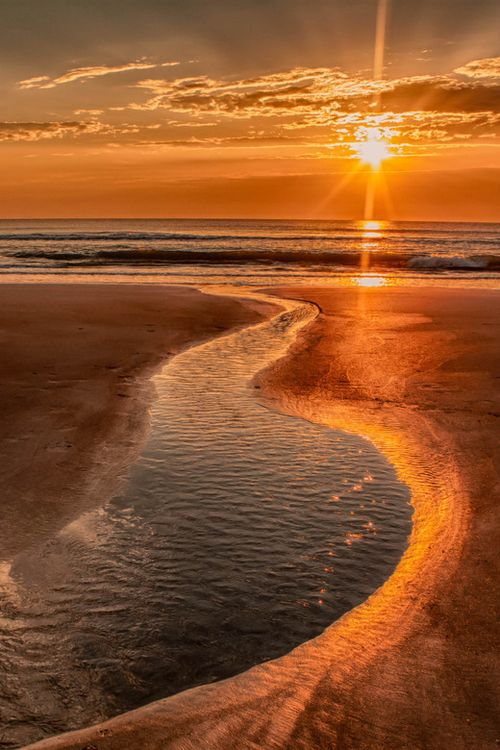 where the stream meets the sea, whe