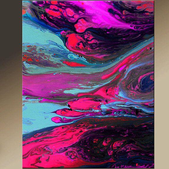 Abstracto arte Print 11 x 14 impresión arte moderno por wostudios