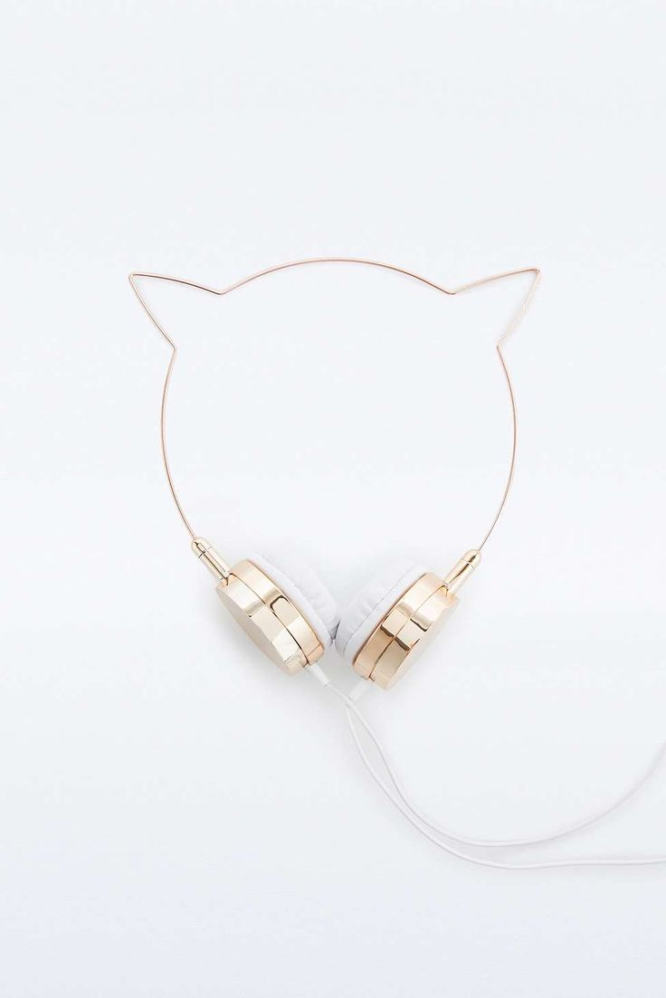 Skinnydip x Zara Martin Rose Gold Kitty Headphones// LOVE THESE, SO CUTE AAAAH
