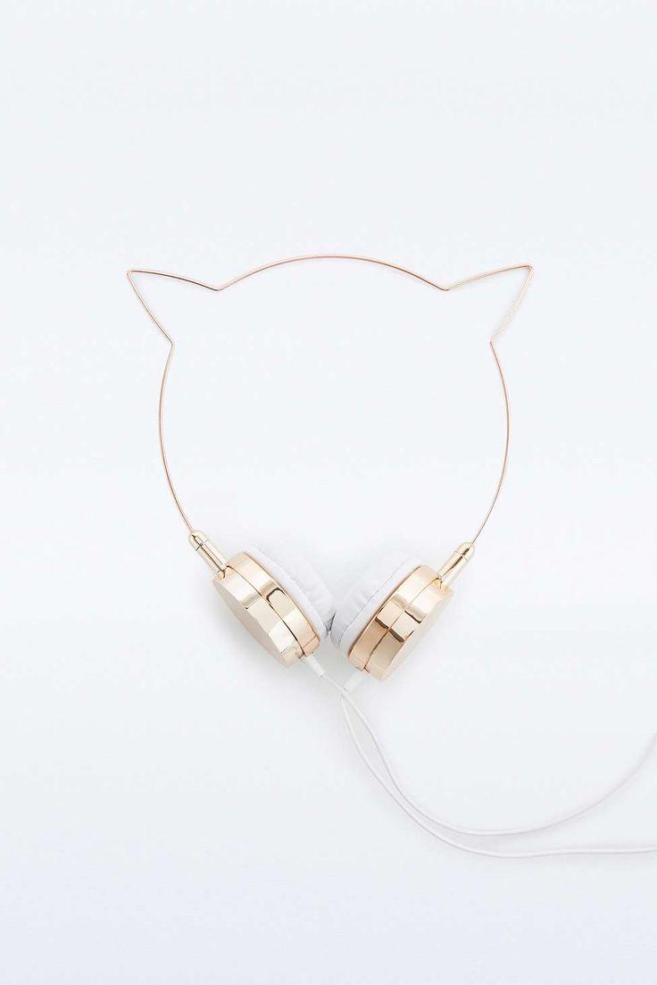 Skinnydip x Zara Martin Rose Gold Kitty Headphones// LOVE THESE, SO CUTE AAAAH
