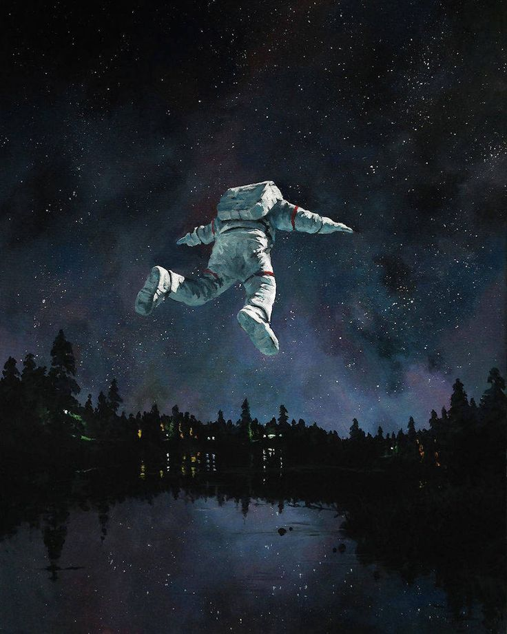 Nice Paintings of Astronauts in Diverse Situations – Fubiz Media