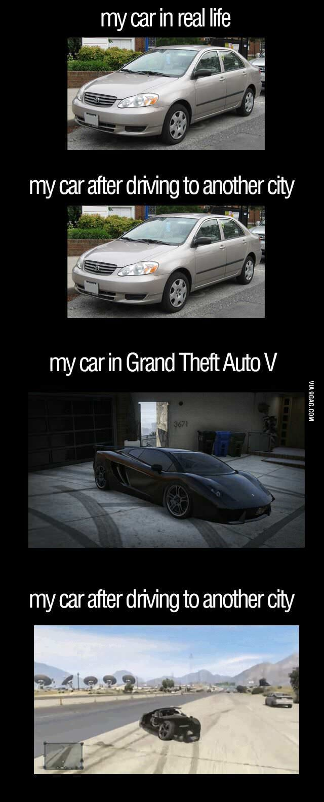 reality vs GTA V.... haha glad i'm not the only one