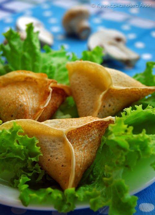 Блинчики с грибами и сыром. Обсуждение на LiveInternet - Российский Сервис Онлайн-Дневников