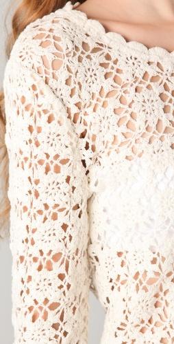 By Zoe.   Alger Crochet Top.