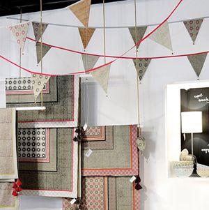 Guirlande 6 fanions en coton (2 modèles) Jardin d'Ulysse
