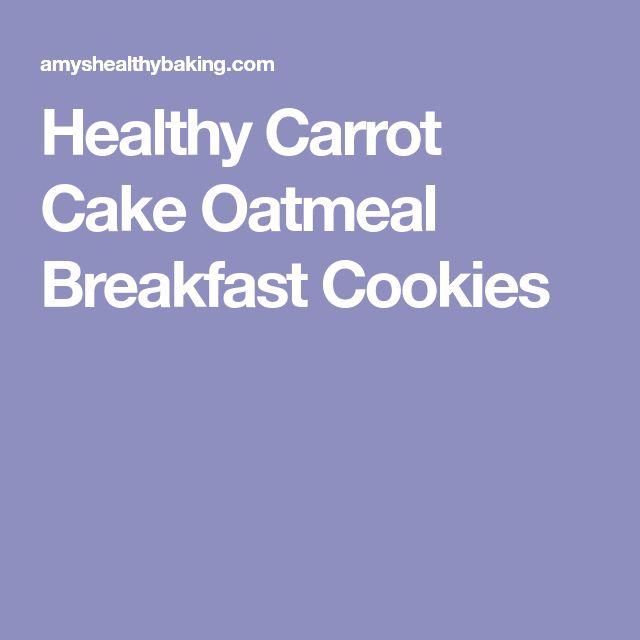 Healthy Carrot Cake Oatmeal Breakfast Cookies