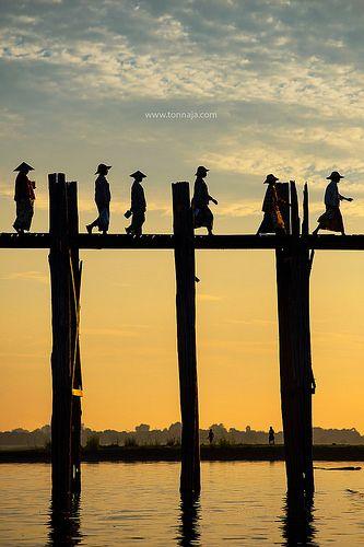 U Bein Bridge - Mandalay