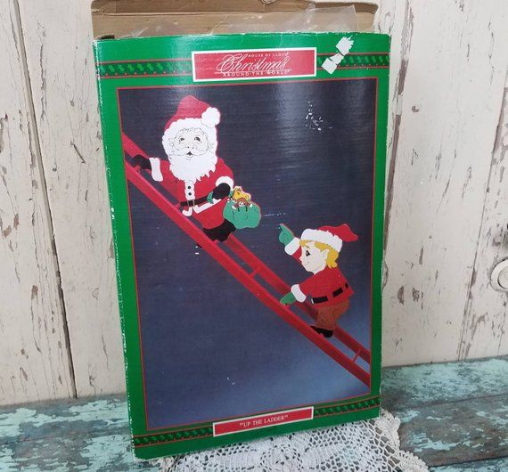 Tall Iron Nordic Santa Standing Decoration Father Christmas Distressed Home