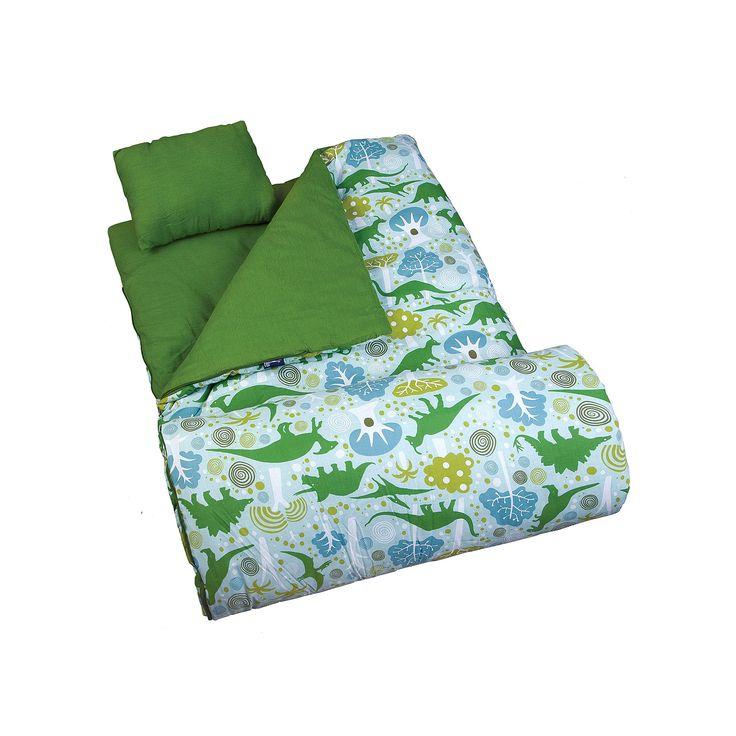 Wildkin Dinomite Dinosaur Sleeping Bag - Kids, Green