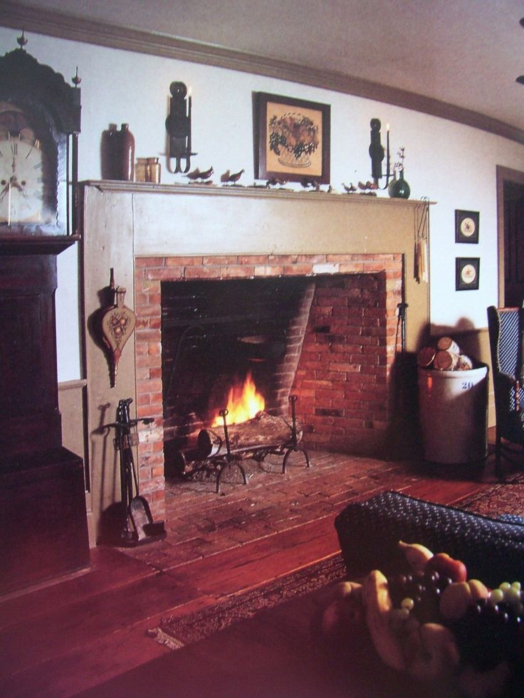 772 best Colonial style fireplace images on Pinterest | Primitive ...