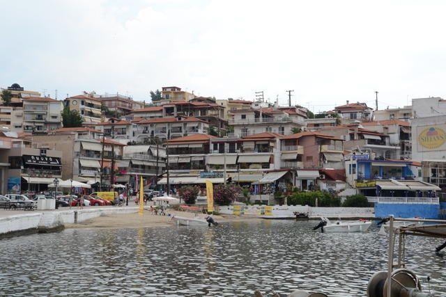 Das Zentrum von Neos Marmaras, Chalkidiki Sithonia