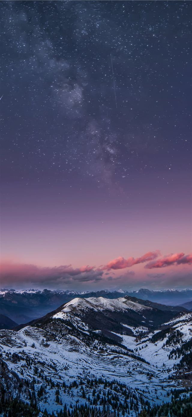 Mountain Milky Way Iphone X Wallpaper In 2019 Iphone