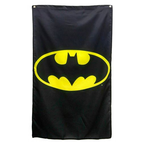 Commemorate your favorite cult classic with an awesome DC Comics Bruce Wayne Batman Logo Black Banner . Free shipping on DC Comics orders over $50.