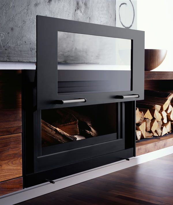720 best fireplaces images on pinterest for Modern wood burning insert