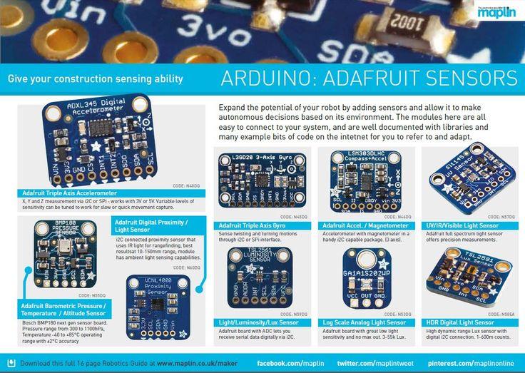 Robotics at Maplin - get to maplin.co.uk/maker and download this full guide as a PDF  #Robot #Robotics #Arduino #RaspberryPi #Pi #Educational #Building #Making #creating #designing #programming #fun #maplinelectronics