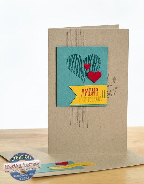 amour, hearts, coeurs, St-Valentin Stampin' Up!, Valentine's, La magie des étampes - Cartes - Scrapbooking - Stampin'Up