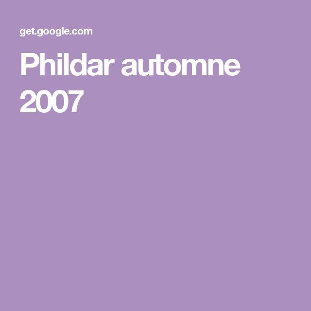 Phildar automne 2007