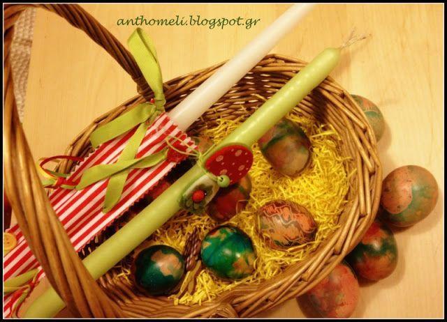 easter eggs, Πασχαλινά αυγά με κηρομπογιές και χρώματα ζαχαροπλαστικής - Anthomeli