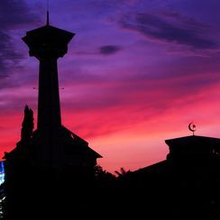 Sunset from simpang lima semarang