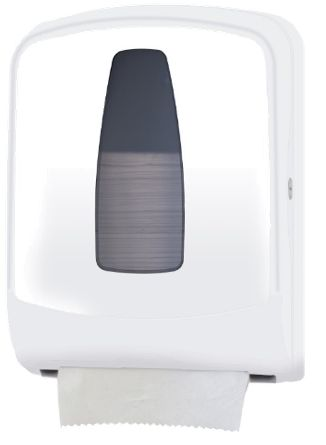 Special Offer R240.00 San Jamar - Auto-Cut Towel Dispenser Hygienic hands-free mechanical dispensing in a mid-sized unit using full-sized roll with stub roll feature.