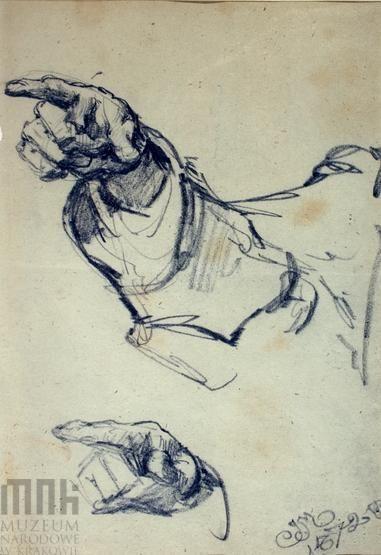 Szkic ręki  i nogi