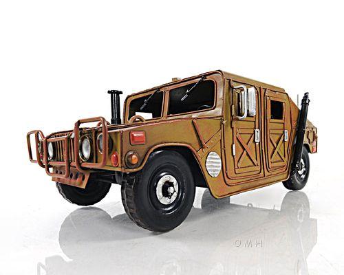 "Humvee Hummer Metal Model 13"""" AM General Jeep Desert Storm Decor"
