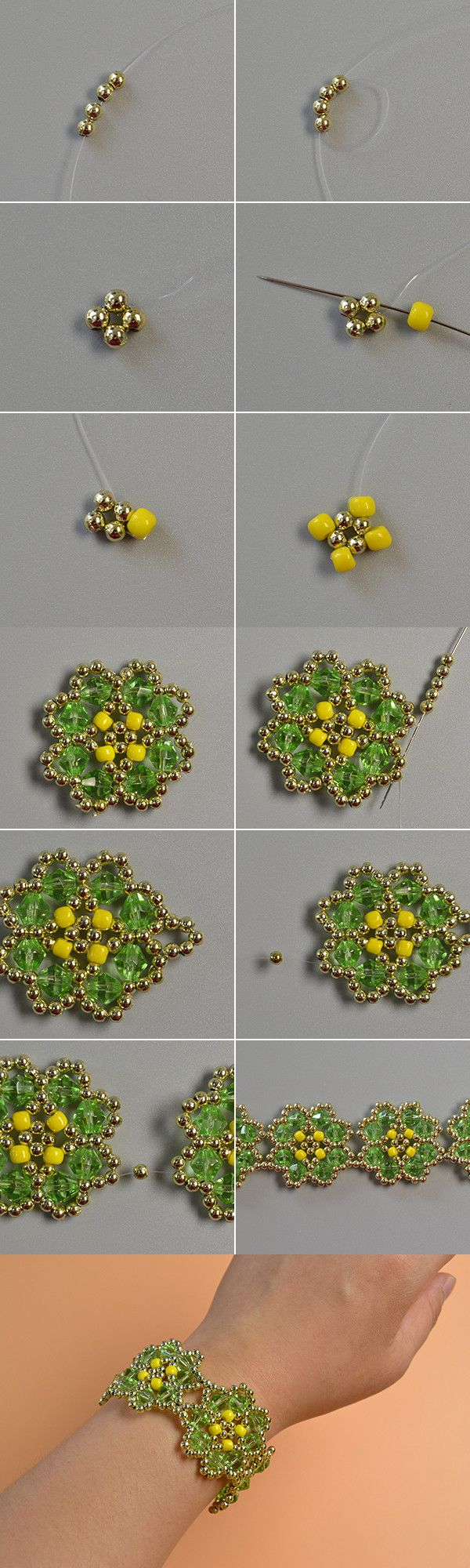 flower beads bracelet, like it? LC.Pandahall.com will share us the tutorial soon.