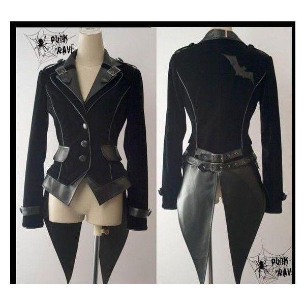 cool fashion jacket coat punk gothic NANA visual kei jacket blazer... ❤ liked on Polyvore featuring outerwear, jackets, punk rock jacket, punk blazer, nana', punk jacket and gothic jackets