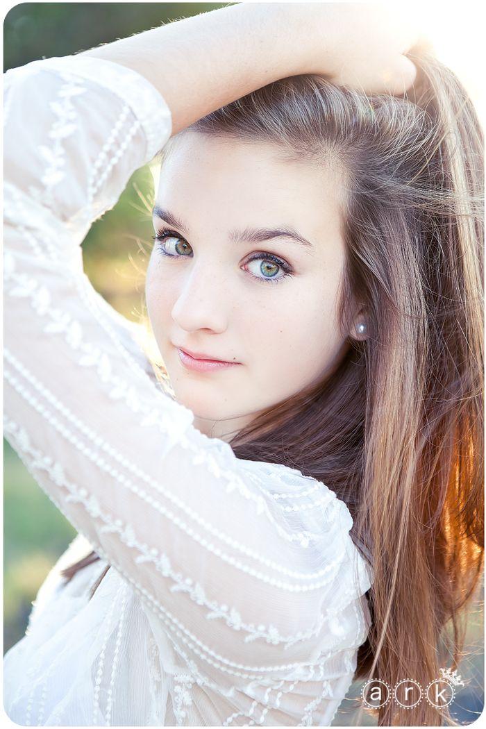 Beautiful idea for Senior photo - Love the sunlight shining through her hair