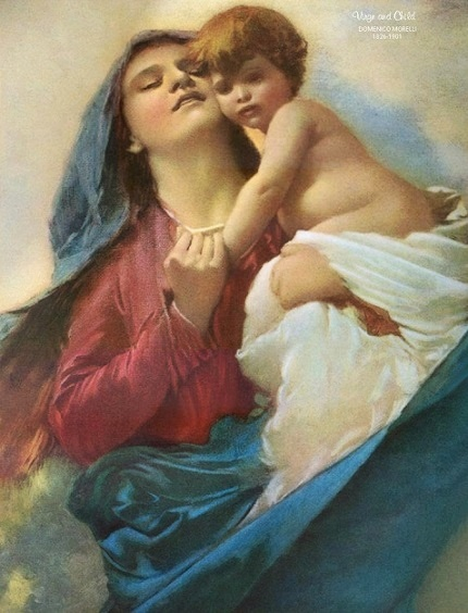 "Artist Domenico Morelli, 1826-1901. ""Mater Purissima"" c1880 translates to ""The Purest Mother"""
