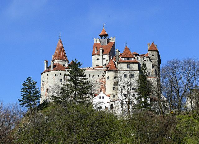 """Bran Castle (Dracula's Castle), Romania  Bran Castle is a medieval fortress and a monument of culture of national rank in Romania in the vicinity of Brasov. The fort is located on the border between the Romanian province of Transylvania and Wallachia, and is known as """"Dracula's Castle""""."""