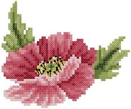 Flower cross stitch pattern.