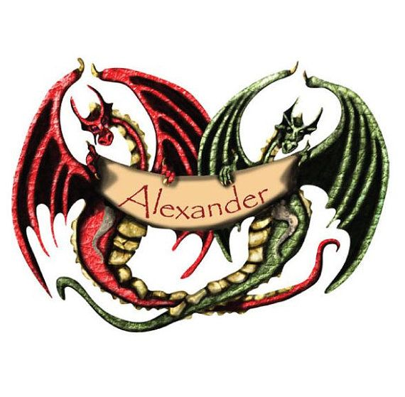 Personalized Dragon Name Banner Wall Decal for by MyWallStickers, $24.99
