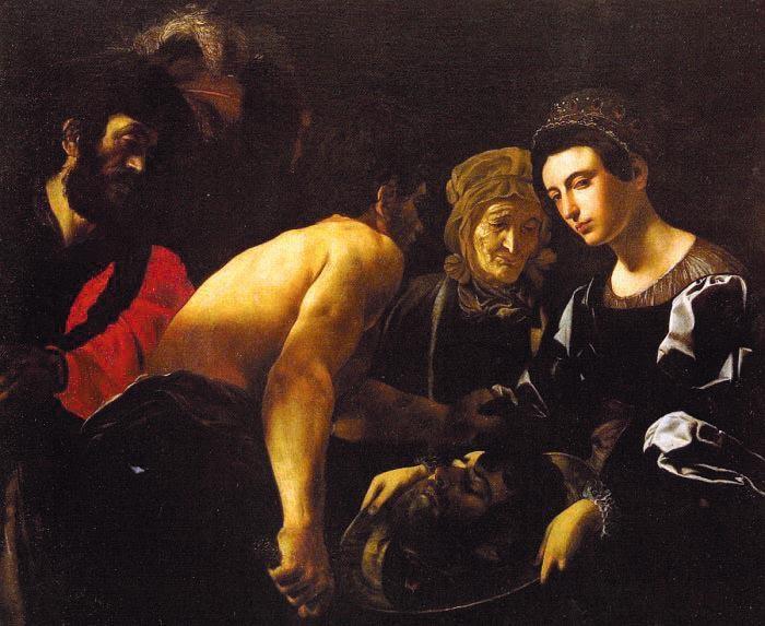 Battistello Caracciolo - Salomè con la testa del Battista.