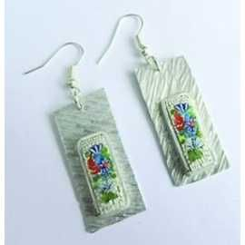 Handmade earrings with micromosaico