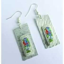 Handmade earrings with micromosaico