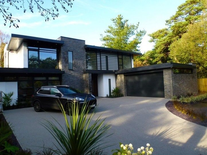 nairn road residence par david james architects canford cliffs dorset angleterre maison - Facade Maison Moderne