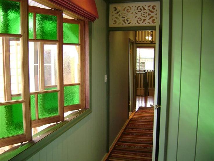 green casement windows #queenslander