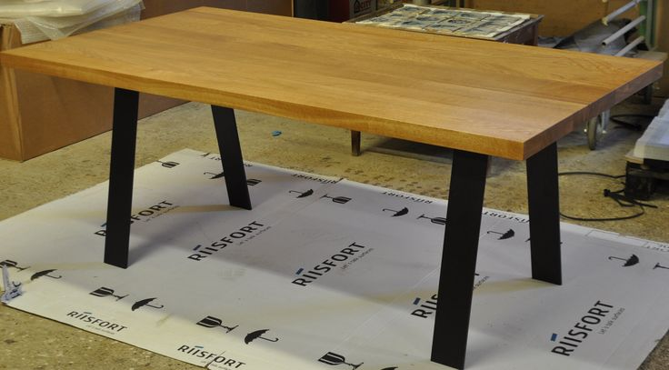 Handmade table with different options.  http://www.kjeldtoft.com/