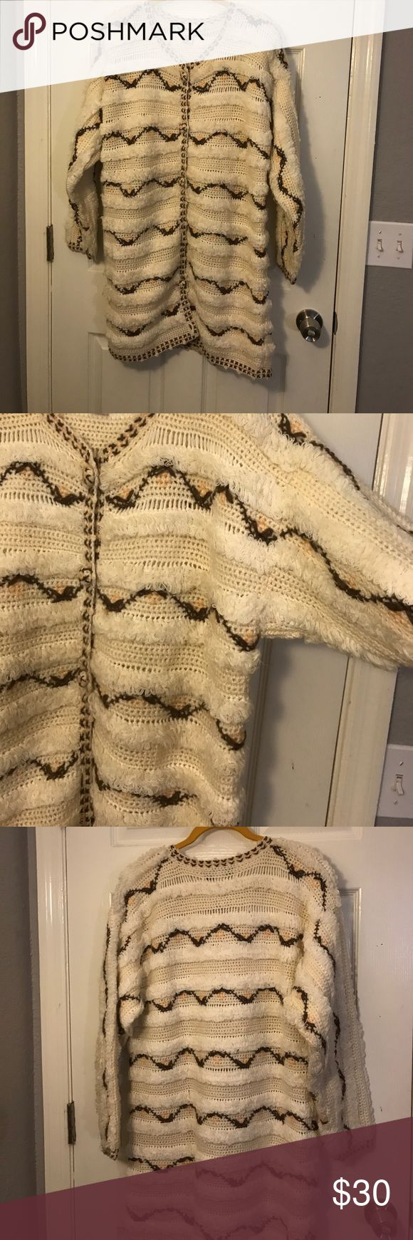 Sweater coat This is a great piece for the start of that chilly weather or pair it with a turtle neck. It's not light weight Sweaters Cardigans