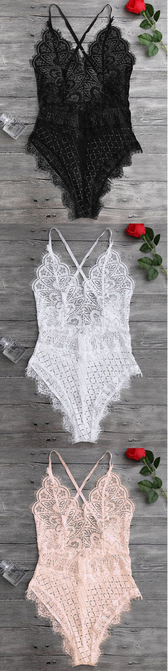 Up to 80% OFF! Scaolloped Sheer Eyelash Lace Teddy Bodysuit! #zaful #lingerie #intimates #underwear #underclothes #underclothing #undies #bra #victoriasecret #lingerieseductive #lingeriesetl #ingeries #lingerieclassy #intimatesapparel #intimatesphotograph