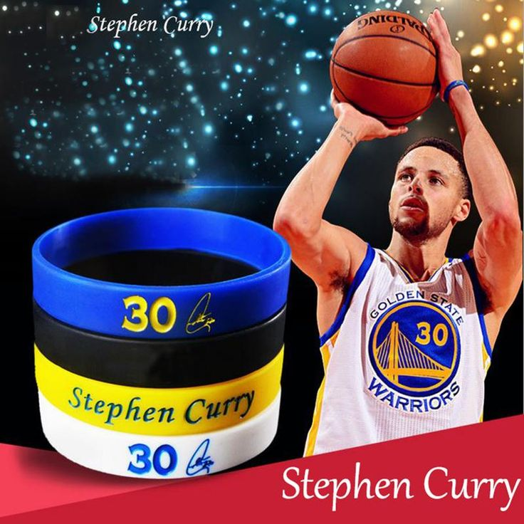 Stephen Curry, Lebron James, Russell Westbrook Rubber Wristbands (Great for Kids)