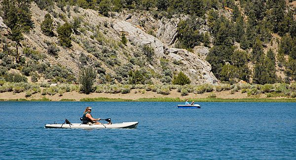 Ely NV - Cave Lake State Park: fishing, boating, hiking in summer; snowmobiling, ice fishing, ice skating, sledding, and snow shoeing in winter