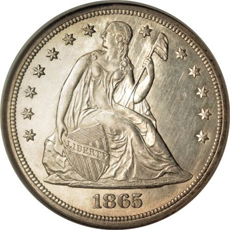 1865 Seated Liberty Dollar Coin Value, Facts