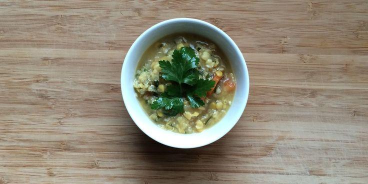 Σούπα φάβα με κινόα
