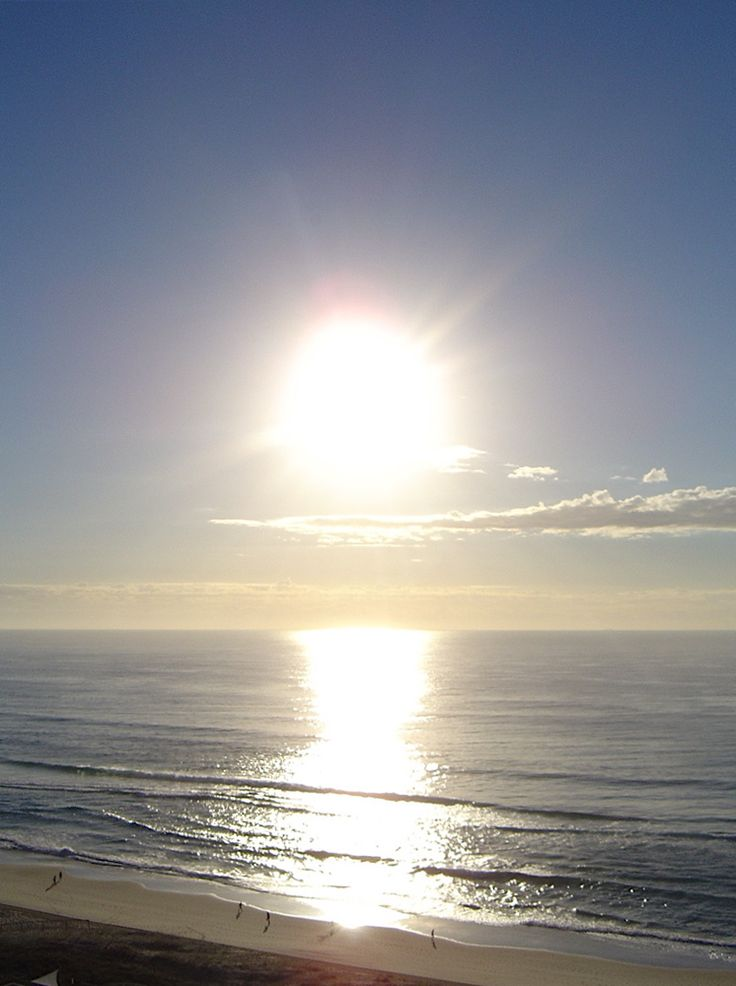 Sunrise at Surfers Paradise QLD Australia. Gorgeous wake up view!